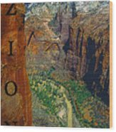 The Canyon Of Zion Wood Print