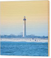 The Cape May Light House Wood Print