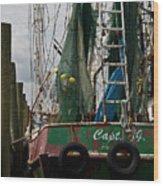 The Captain Wood Print