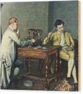 The Card Game Wood Print