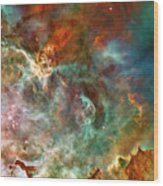 The Carina Nebula Panel Number Three Out Of A Huge Three Panel Set Wood Print