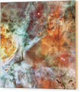 The Carina Nebula Panel Number Two Out Of A Huge Three Panel Set Wood Print