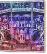 The Carousel Of Alice   Wood Print