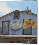 The Carpenter Farm Supply Wood Print