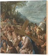 The Carrying Of The Cross Wood Print