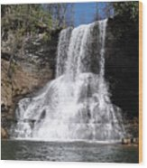 The Cascades Falls II Wood Print