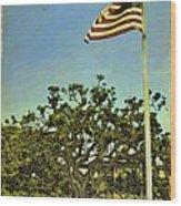 The Casements Flag Flying Wood Print