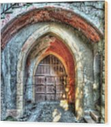 The Castle Door - La Porta Del Castello Wood Print