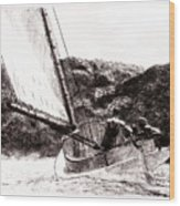 The Cat Boat, Edward Hopper Wood Print