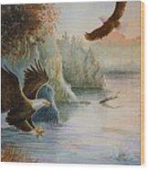 The Catch Wood Print