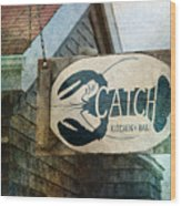 The Catch Wood Print