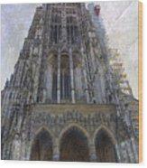 The Cathedral At Ulm Wood Print
