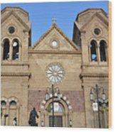 The Cathedral Basilica Of St. Francis Of Assisi, Santa Fe, New M Wood Print