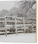 The Cattle Pens Wood Print