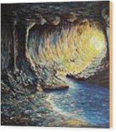 The Cave Wood Print