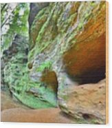 The Caves At Old Man's Gorge Trail Hocking Hills Ohio Wood Print