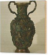 The Cedar Ridge - Wildflower Vase Prickly Pear Side Wood Print