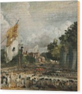 The Celebration In East Bergholt Of The Peace Of 1814 Concluded In Paris  Wood Print