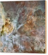 The Central Region Of The Carina Nebula Wood Print by Stocktrek Images