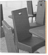 The Chairs Wood Print