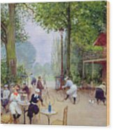 The Chalet Du Cycle In The Bois De Boulogne Wood Print