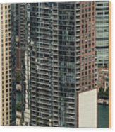 The Chandler Condominiums Building Chicago Aerial Wood Print