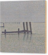 The Channel At Nieuport Wood Print