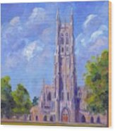 The Chapel At Duke University Wood Print