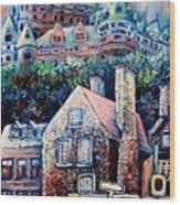 The Chateau Frontenac Wood Print