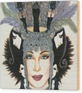 The Cher-est Painting Wood Print