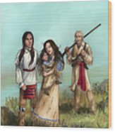 The Cherokee Years Wood Print by Brandy Woods