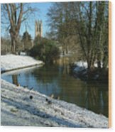 The Cherwell. Wood Print by Mike Lester