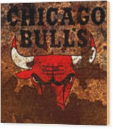 The Chicago Bulls R1 Wood Print