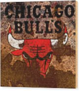 The Chicago Bulls R2 Wood Print
