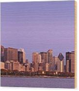 The Chicago Skyline At Sunrise Wood Print