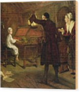 The Child Handel Discovered By His Parents Wood Print