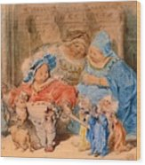 The Childhood Of Gargantua Wood Print