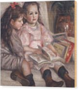 The Children Of Martial Caillebotte Wood Print by Pierre Auguste Renoir