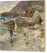 The Children Of The Sea - Capri Wood Print