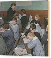 The Children's Class Wood Print