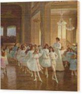 The Children's Dance Recital At The Casino De Dieppe Wood Print