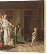 The Children's Quarrel Wood Print