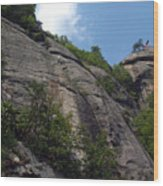 The Chimney At Chimney Rock State Park Nc Wood Print