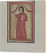 The Christ Child-retalba El Nino Perdido, (the Lost Child) A Retabla Wood Print
