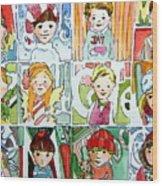 The Christmas Cousins Wood Print