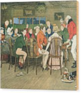 The Christmas Dinner At The Inn Wood Print