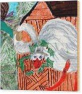 The Christmas Goose Wood Print