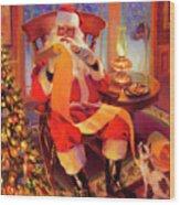 The Christmas List Wood Print