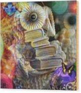 The Christmas Owl  Wood Print