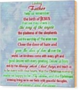 The Christmas Prayer Wood Print